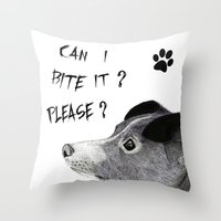 sia Throw Pillows featuring My Love Nihal by Puddingshades
