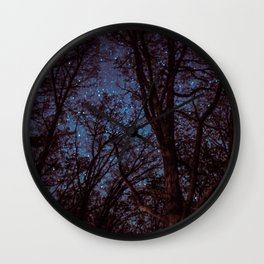 Tree Silhouettes Wall Clock