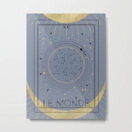 The World or Le Monde Tarot Metal Print
