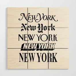 I Heart New York City Black and White New York Poster I Love NYC Design black-white home wall decor Wood Wall Art