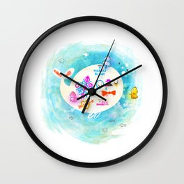 Squidfitti Wall Clock