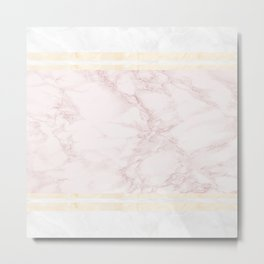 Pastel Marble Composition #7 Metal Print