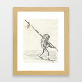 the light, old boy, the light Framed Art Print