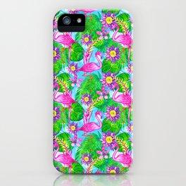 Aloha! Flamingo pattern iPhone Case