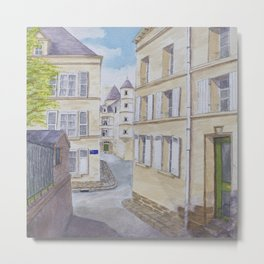 Narrow streets in Chinons old town (France) Metal Print