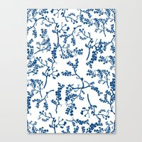 floral pattern Canvas Prints featuring Floral Pattern by Elena O'Neill
