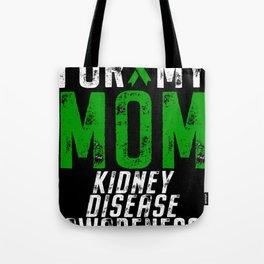 Kidney Disease Awareness Mom Ribbon Tote Bag