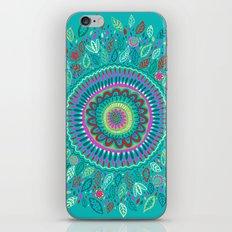 leafy Turquoise Mandala iPhone Skin