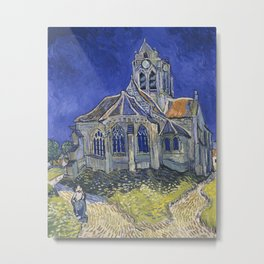 The Church at Auvers by Vincent van Gogh, 1890 Metal Print