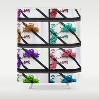 poem Shower Curtains featuring Floral poem by RicardMN Photography