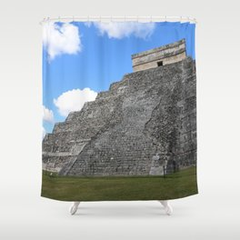 Chichen Itza Temple of Kukulcan south-west View Shower Curtain