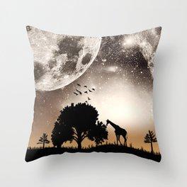 Nature silhouettes Throw Pillow