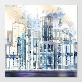 Blue City Scape Canvas Print