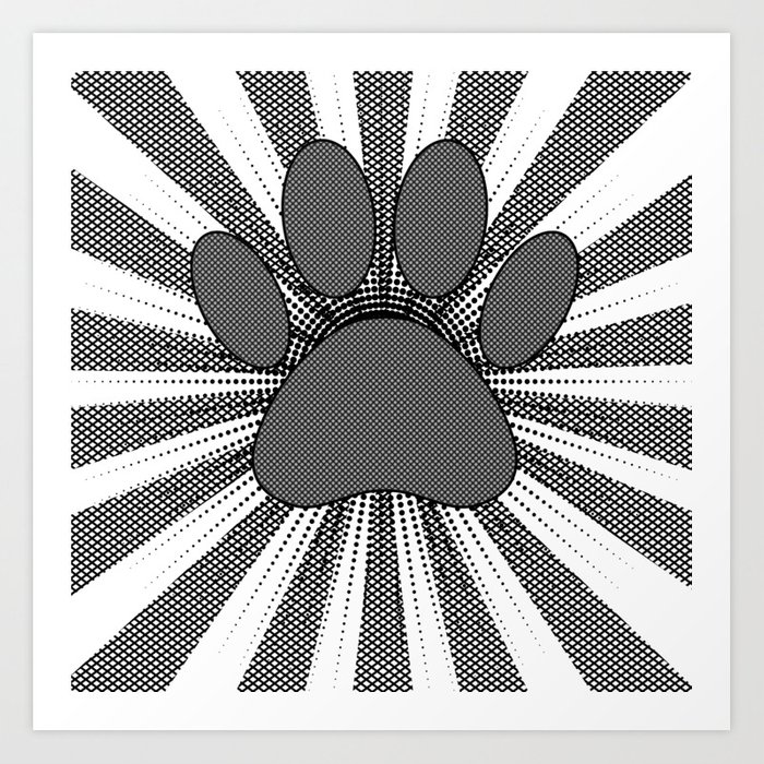 Dog Paw Print Manga Style Art Print By Almdrs Society6