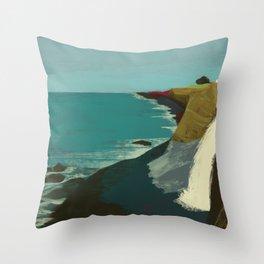 The Coast of California Throw Pillow