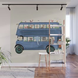 the big blue bus Wall Mural