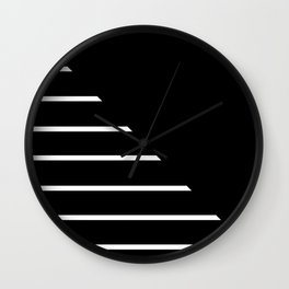 Half Stripes Black and White Wall Clock