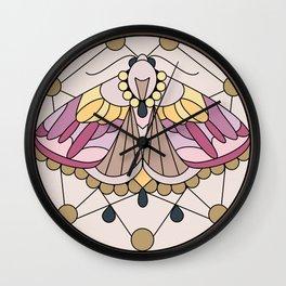 Moth - Eublemma purpurina Wall Clock