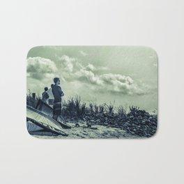 Daydreams on the Beach - Windsurfer Abstract Landscape Photograph Bath Mat