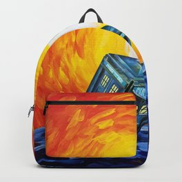 Tardis and a Great Wave Backpack