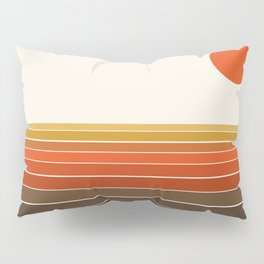 Peace Out - sunset ocean surfing beach life 70s style retro 1970s design Pillow Sham