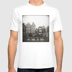 { teeny houses } Mens Fitted Tee MEDIUM White