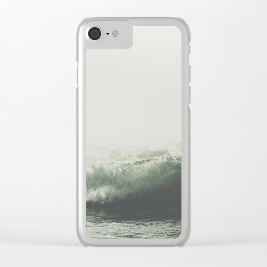 Into the waves VI Clear iPhone Case