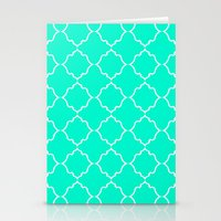 moroccan Stationery Cards featuring Moroccan Aqua by Jenna Mhairi