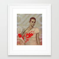 stiles stilinski Framed Art Prints featuring Stiles Stilinski by Sudjino