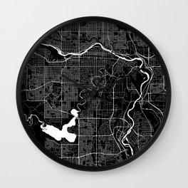 Calgary - Minimalist City Map Wall Clock