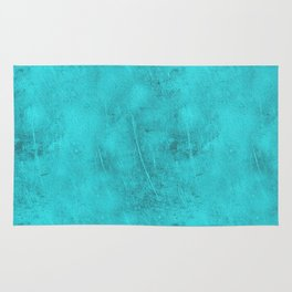Metal Blue Turquoise Background Rug