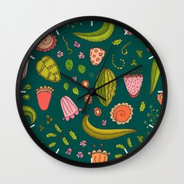 Deconstructed Flora (drawing) Wall Clock