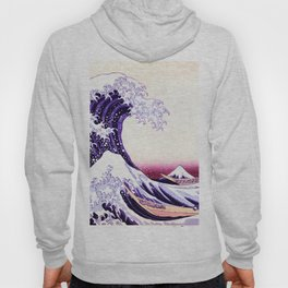 The Great wave purple fuchsia Hoody