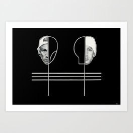 The clique Art Print