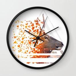 Caution Deer by GEN Z Wall Clock
