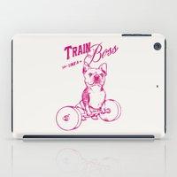 boss iPad Cases featuring Train Like A Boss by Huebucket
