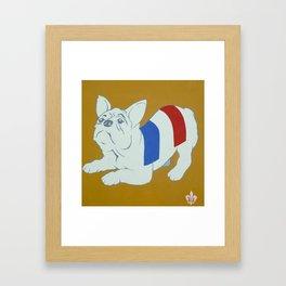 Frog Dog Framed Art Print