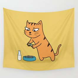 Foodie Cat Wall Tapestry