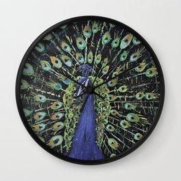 Peacock the Proud Wall Clock