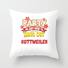 Rottweiler Dog Party Throw Pillow