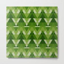 Geometric - Green Metal Print