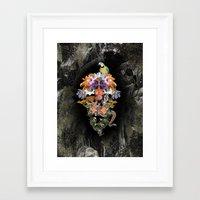 animal skull Framed Art Prints featuring ANIMAL SKULL by sametsevincer