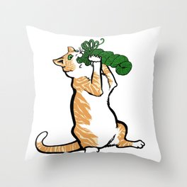 Cats&Yarn - Red Tom Throw Pillow