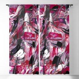 Pink Modern Abstract Wall Art Blackout Curtain
