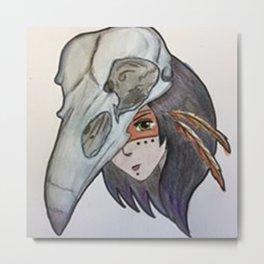 crow spirit animal Metal Print