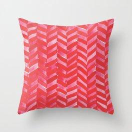 Hot Pink Herringbone Throw Pillow