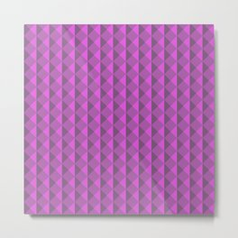 Pink abstract geometric pattern. Pyramid. Rhombuses and triangles. Metal Print