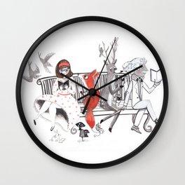 Elwood's Uncomfortable Stare Wall Clock