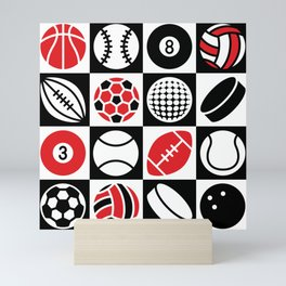 Sport Ball Checkerboard Mini Art Print