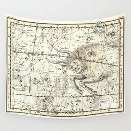 Taurus Zodiac, Celestial Atlas Plate 14, Alexander Jamieson Wall Tapestry